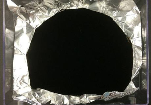 No, the black bit isn't flat. Not that you can tell by looking. Photo: Surrey Nanosystems.