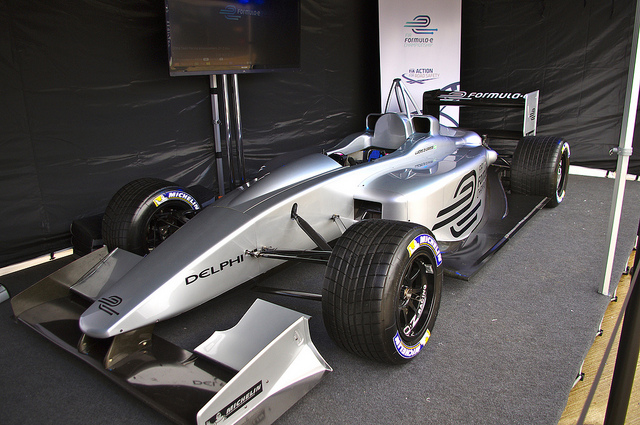 Formula E Racecar, Photo: Flickr user David Merrett, CC BY 2.0