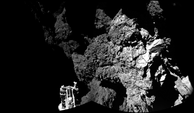 From the surface; Photo: ESA/Rosetta/Philae/CIVA