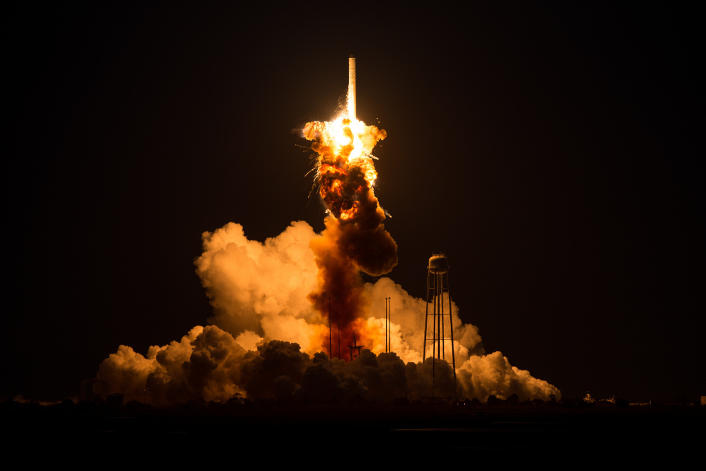 Orbital Science Corp. rocket explosion earlier this week. Photo: NASA/Joel Kowsky