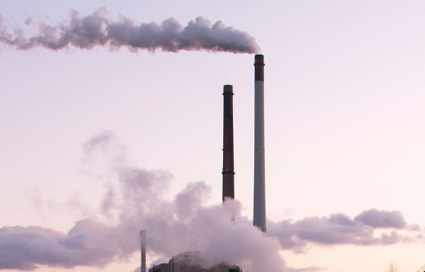 "Smokestacks, detail of ""Coal Power Plant""; Photo: Flickr user eutrophication&hypoxia, CC BY 2.0"