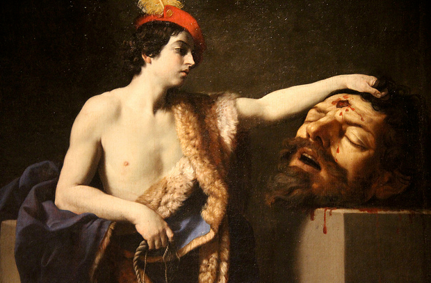 "Not really the right metaphor. Photo: Guido Reni's ""David with the Head of Goliath"" in the Musée d'Orléans, photo by Flickr user Renaud Camus"