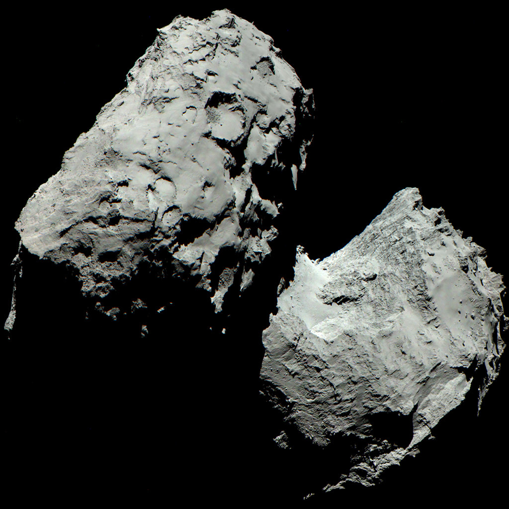 Comet 67P in Colour, Photo: ESA/Rosetta/MPS for OSIRIS Team MPS/UPD/LAM/IAA/SSO/INTA/UPM/DASP/IDA