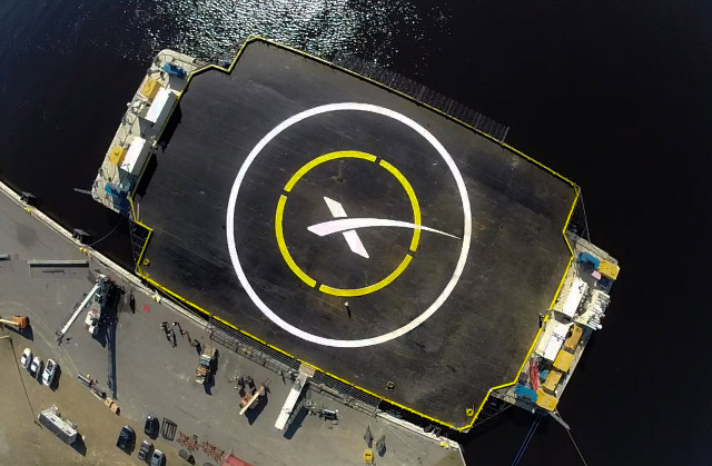 "The Newly-Christened ""Just Read the Instructions""; Photo: SpaceX"