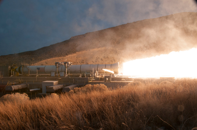 Two minutes of raw power; Photo: Orbital ATK