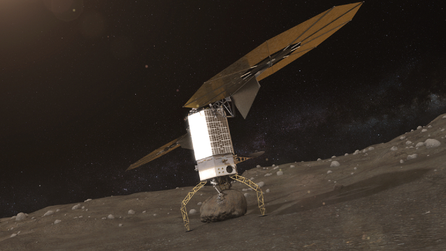 Taking a piece home for study; Photo: NASA