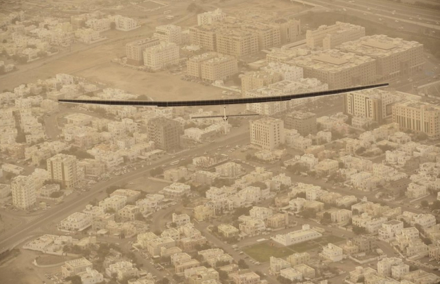 The Solar Impulse over Oman, Photo: Solar Impulse | rezo.ch