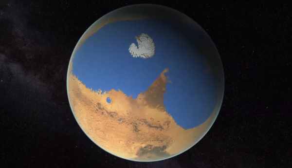 Wet Mars; Photo: NASA/Villanueva/Mumma/Gallagher/Feimer et al.