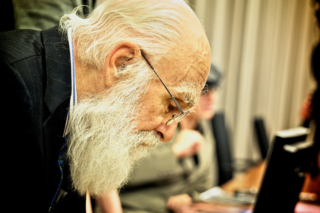 James Randi, patron saint of skeptics. Photo: Flickr user Maria Morri, CC BY 2.0