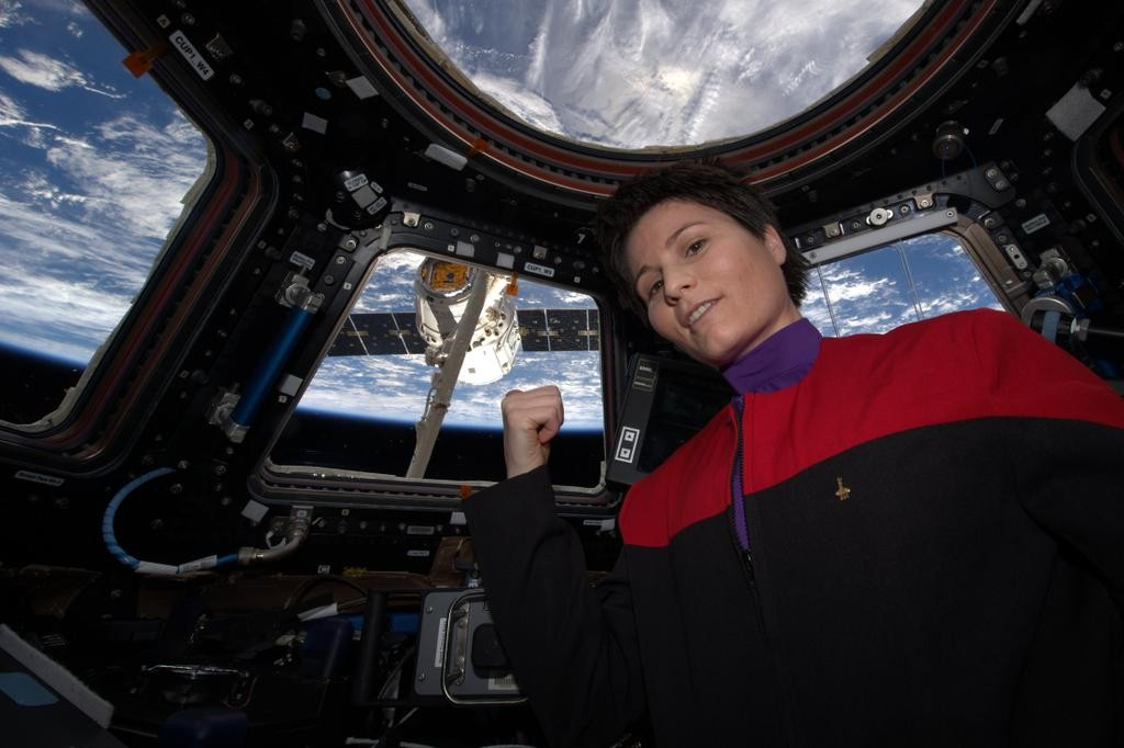 Yes, that's the Dragon in the background, too. Photo:Samantha Cristoforetti / ISS