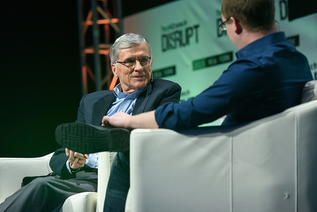 FCC Chairman Tom Wheeler at Disrupt NY 2015, Photo: TechCrunch, CC BY 2.0