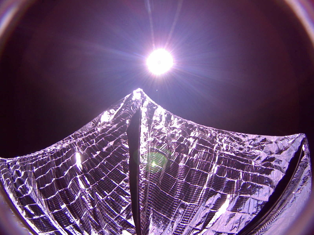 Lightsail deployed! Photo:  The Planetary Society, CC-BY-NC 3.0
