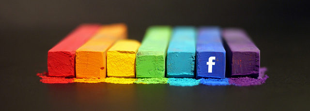 The Facebook rainbow is so oppressive, no? Photo: Flickr user mkhmarketing, CC BY 2.0
