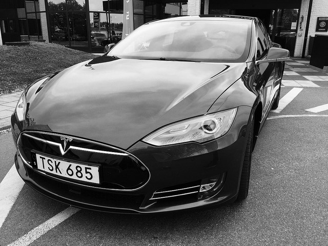 The Tesla Model S P85D; Photo: Flickr user erik forsberg, CC BY 2.0