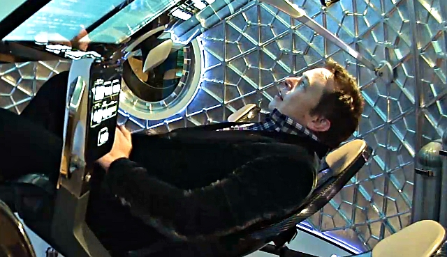 Elon Musk in the Crew Dragon; Photo: Flickr user Steve Jurvetson (again); CC BY 2.0