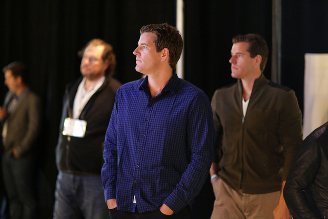The Winklevoss Twins | Photo: Max Morse for TechCrunch, CC BY 2.0