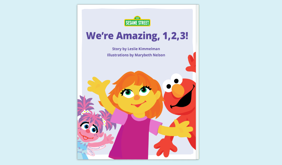 "Cover of Sesame Street's amazing new autism-friendly book, ""We're Amazing, 1, 2, 3!"" 