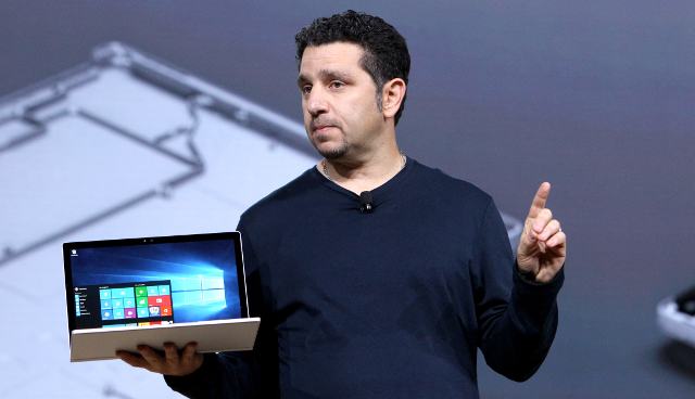 Surface VP Panos Panay holding the new Surface Book | Photo: Mark Von Holden/AP Images