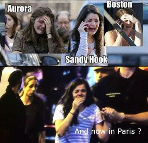 """Image of supposed """"crisis actor""""  Photo montage: These Conspiracy Theorists"""