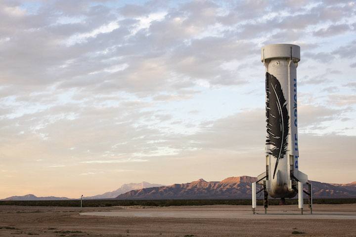 Blue Origin's New Shepard after its return | Photo: Blue Origin