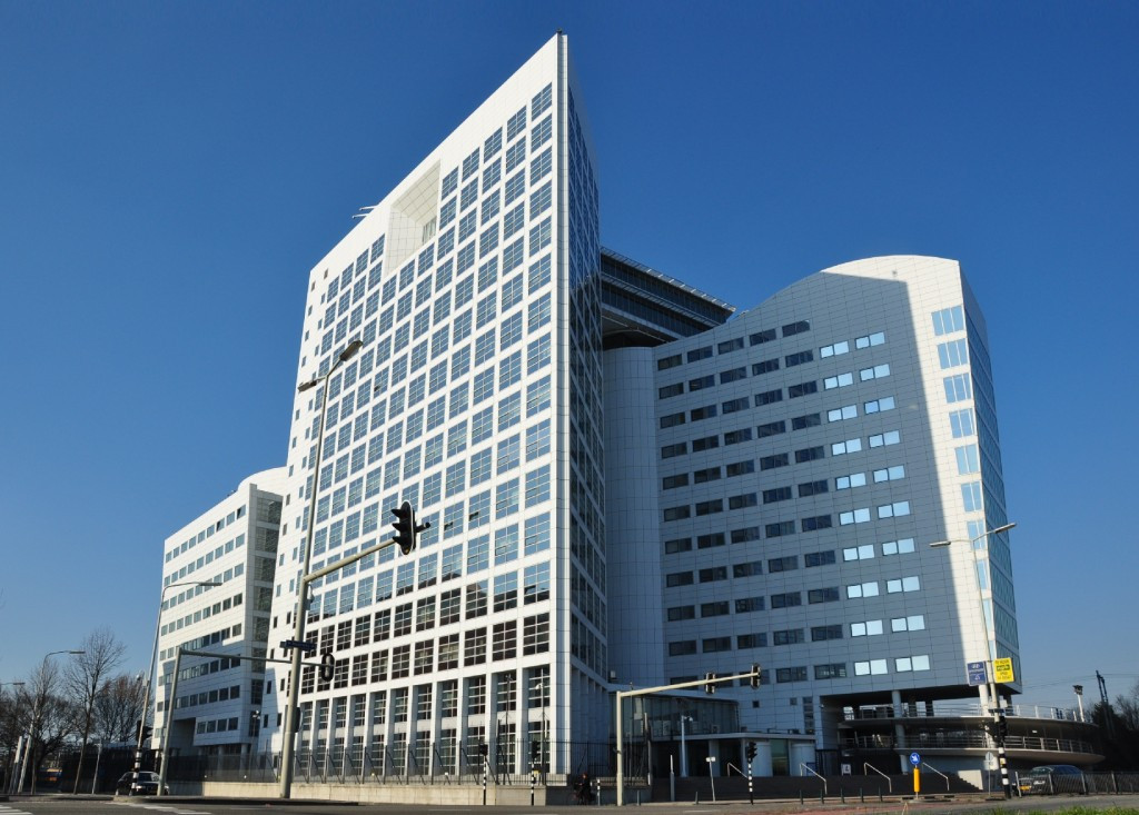 "The ICC in The Hague, where the ""trial"" will not take place 