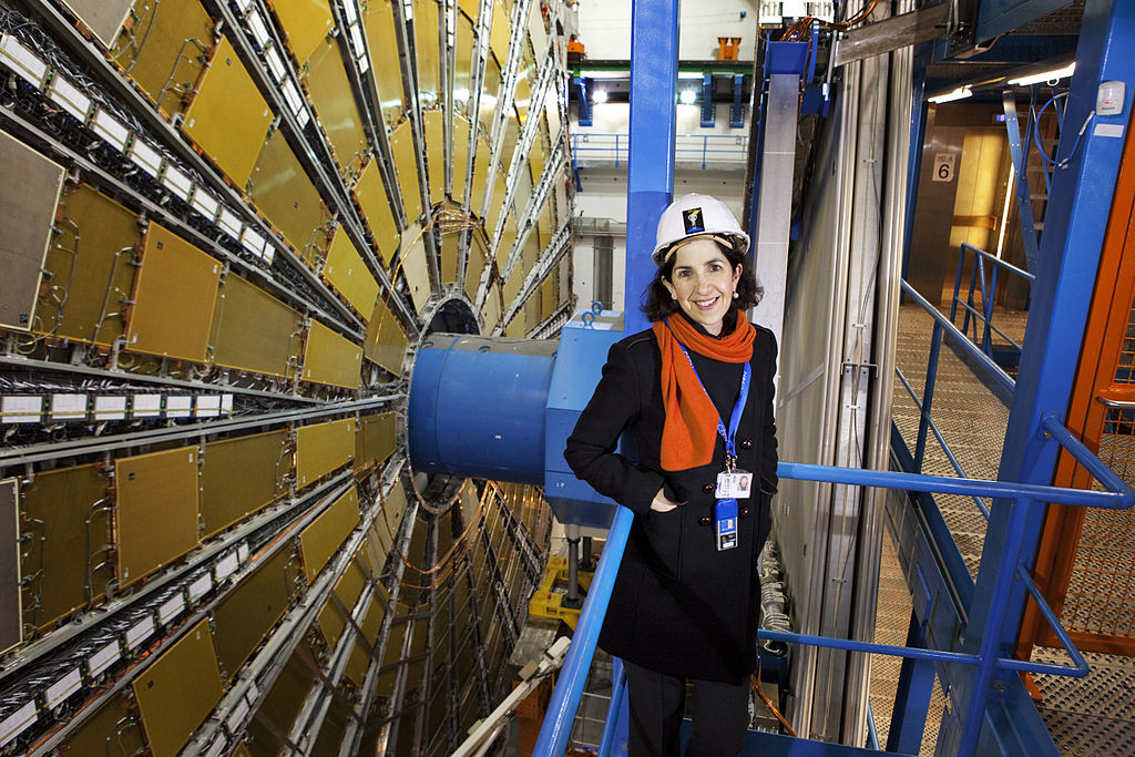 Dr. Fabiola Gianotti at the LHC | Photo: Claudia Marcelloni De Oliveira, Wikimedia Commons, CC BY-SA 4.0