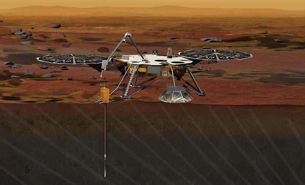 Artist's conception of the InSight lander | Photo: NASA/JPL