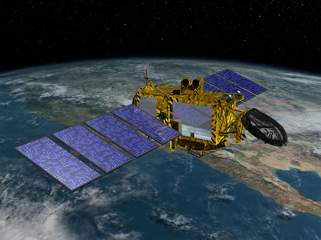 Rendering of JASON-3, now in orbit | Photo: NOAA Satellites, CC0 (public domain)