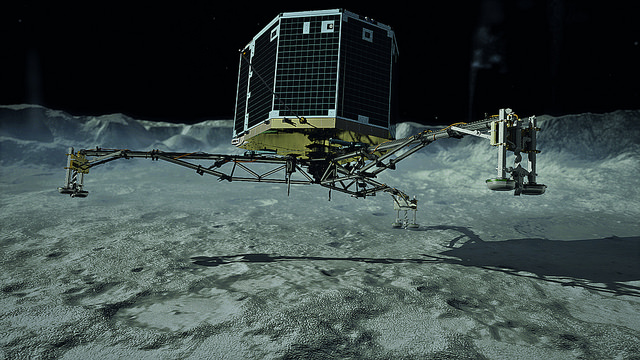 The little lander that was | Photo: DLR German Aerospace Center, CC BY 2.0