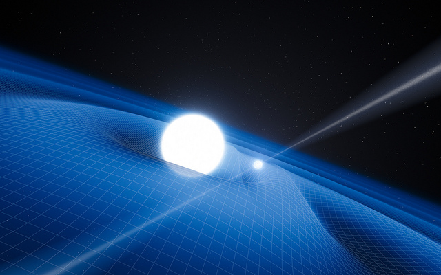 Dr. Kaspi researches neutron stars and pulsars, like the one orbiting the white dwarf above | Photo: European Southern Observatory, CC BY 2.0