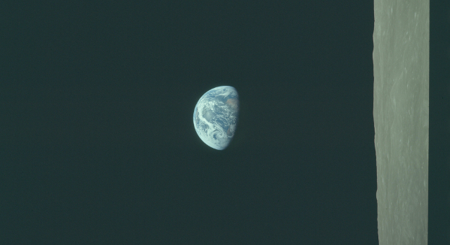 Taken from Apollo 8 | Photo: Project Apollo Archive