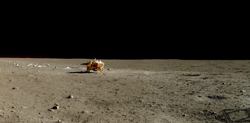 China's Chang'e 3 lander as seen by the Yutu rover | Photo: Chinese Academy of Sciences / China National Space Administration / The Science and Application Center for Moon and Deepspace Exploration / Emily Lakdawalla