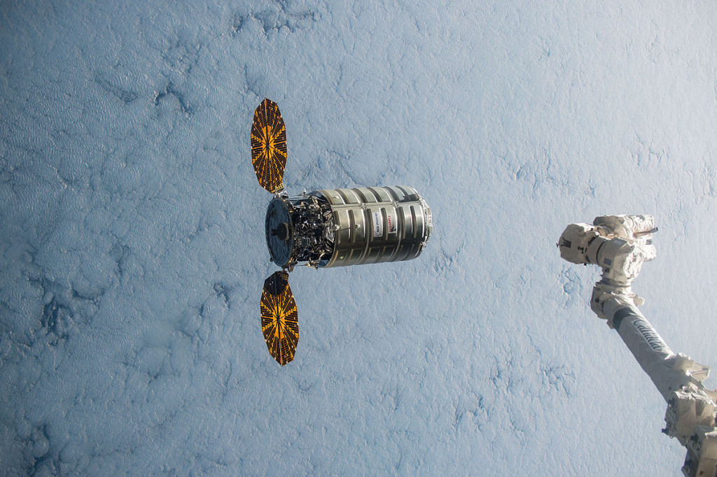 "An earlier Cygnus prepares to dock with the ISS | Photo: <a href=""https://en.wikipedia.org/wiki/Cygnus_CRS_OA-4#/media/File:ISS-45_Cygnus_5_approaching_the_ISS_(2).jpg"">NASA</a>, CC0 (Public Domain)"