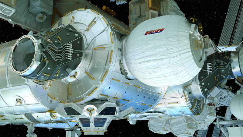 Artist's conception of BEAM attached to ISS | Photo: Bigelow Aerospace