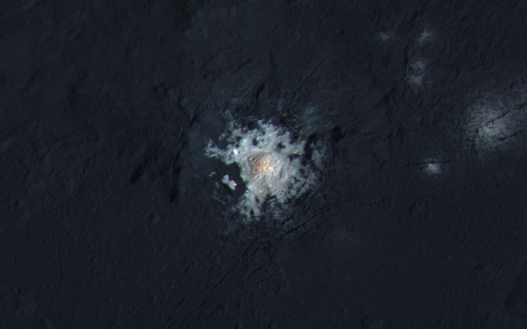 "Occator crater's ""bright spots"" 