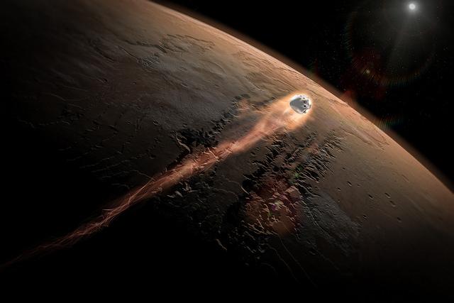 Dragon to Mars   Photo: SpaceX, CC0 (Public Domain)