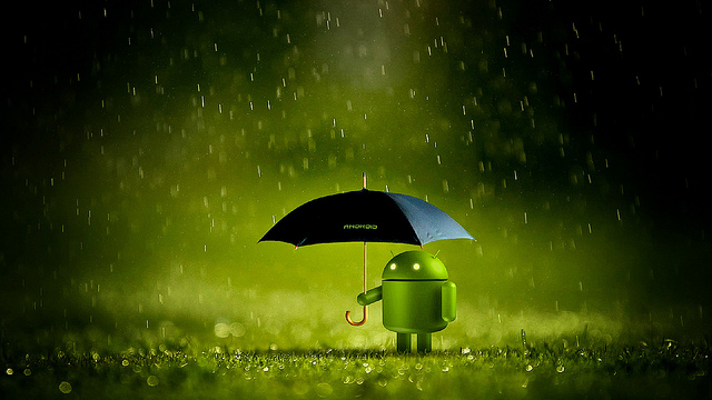 No rain on Android's parade today | Photo: Uncalno Tekno, CC BY 2.0