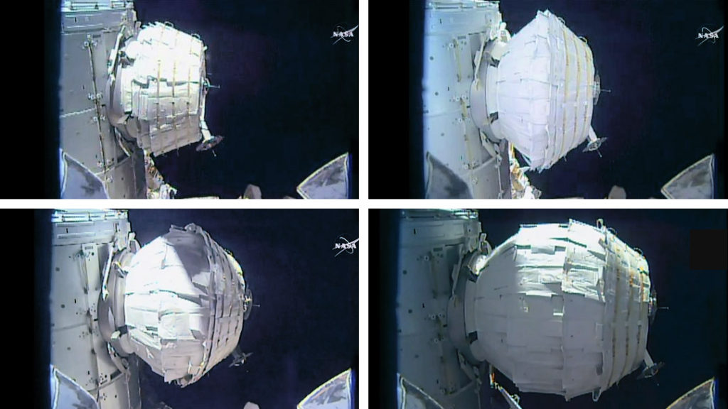 Like blowing up a ($17.8million) balloon (in space) | Photo: NASA TV