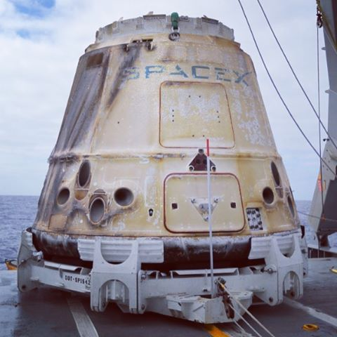 Dragon aboard and heading for port | Image: SpaceX