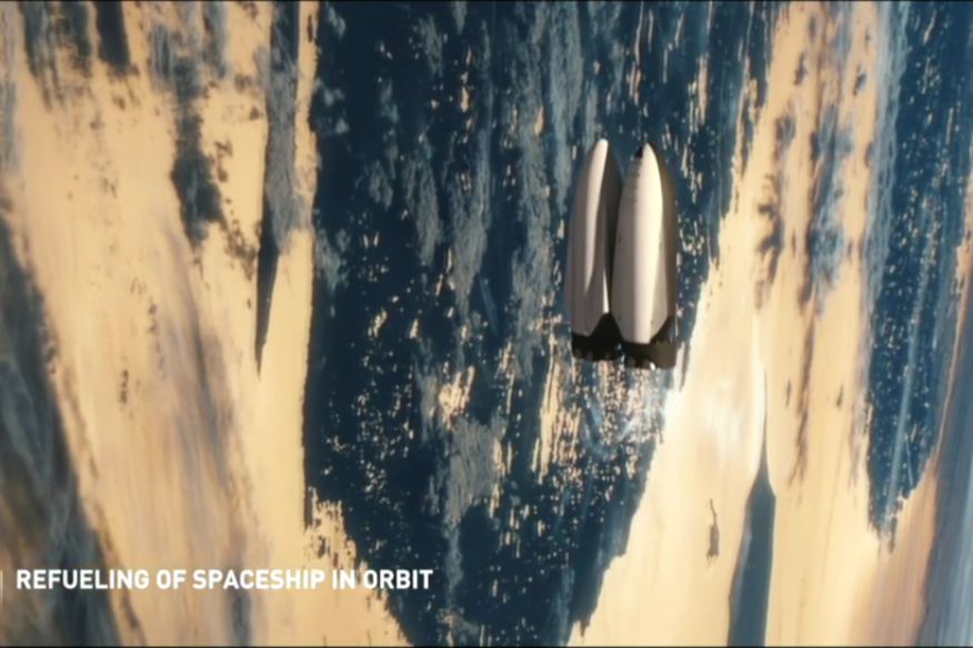 MCT and fuel tanker in Earth orbit | Image: SpaceX