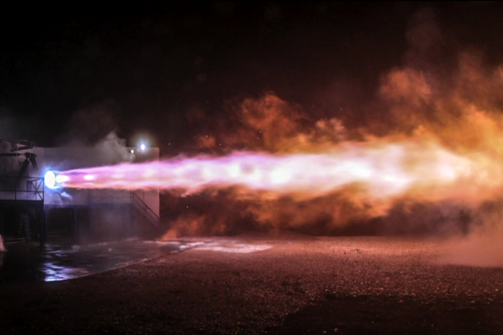 The Raptor being test-fired | Image: SpaceX