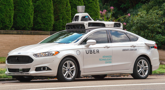 A Ford Fusion equipped with Uber's self-driving system | Photo: Uber
