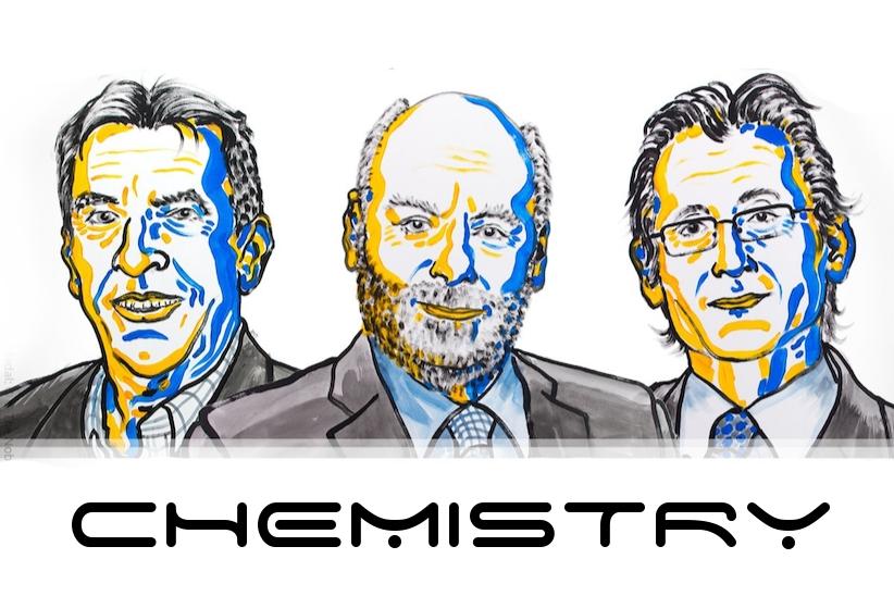 Jean-Pierre Sauvage, Sir J. Fraser Stoddart, and Bernard L. Feringa | Image: Niklas Elmehed, Nobel Foundation