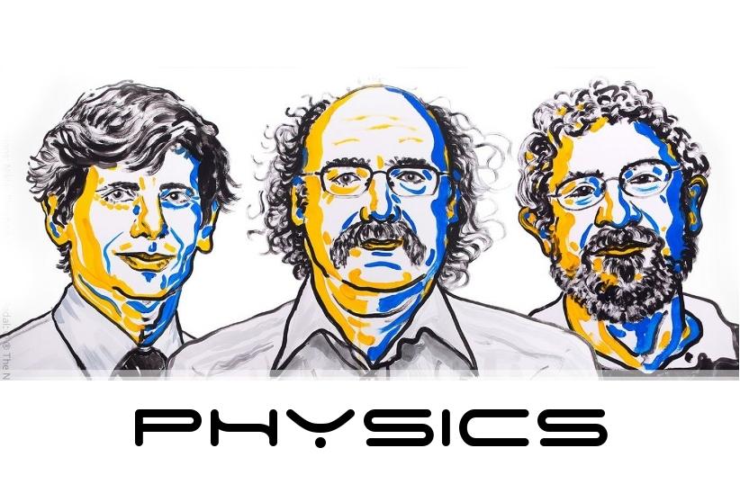 David J. Thouless, F. Duncan M. Haldane, and J. Michael Kosterlitz | Image: Niklas Elmehed, Nobel Foundation