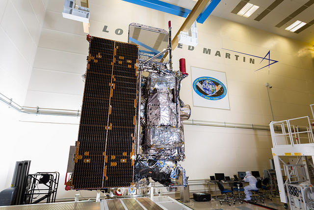 GOES-R in a clean room at Lockheed Martin | Photo: NOAA Satellites, CC0