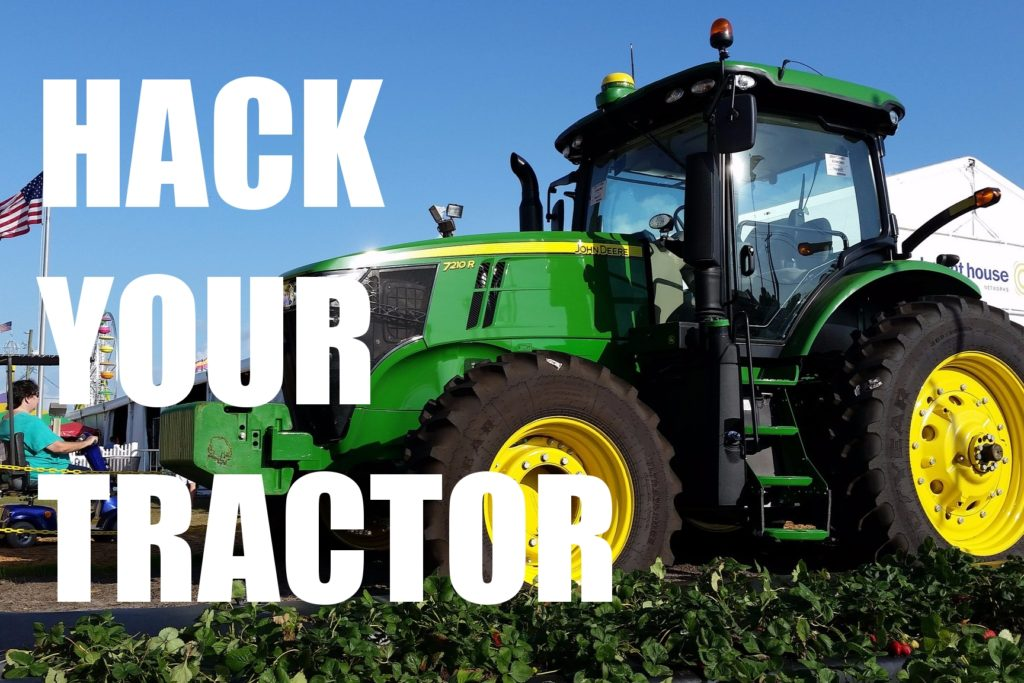 Hack your tractor | Photo: Michel Curi, CC BY 2.0 [text added]
